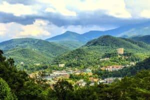 Stunning photo of Gatlinburg and the Smoky Mountains.
