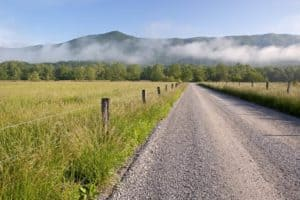 Beautiful mountain views from the Cades Cove Loop Road.