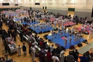 A martial arts tournament at Rocky Top Sports World in Gatlinburg.