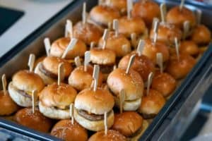 mini hamburgers for catering